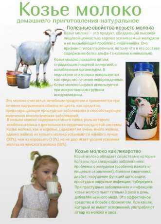Полезные свойства козьего молока для детей и