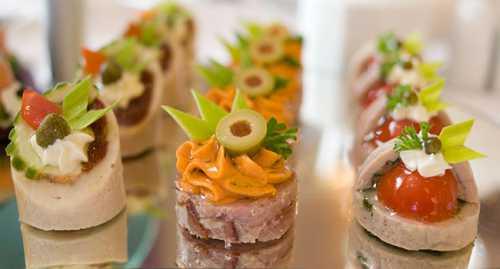Рецепты свадебных закусок, секреты выбора