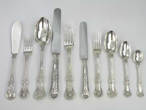 Серебряные столовые приборы