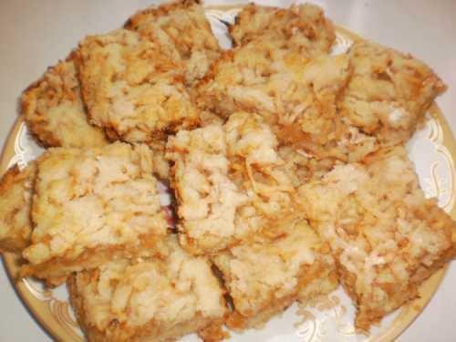 Сухой пирог с яблоками