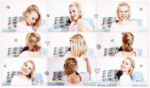 Причёска на каждый день на короткие волосы