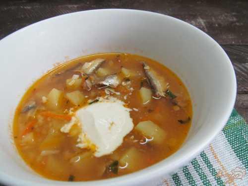 Суп из томатной кильки