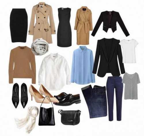 Модный, женский базовый гардероб